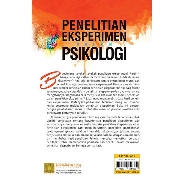 Penelitian Eksperimen Dalam Psikologi Prenada Media