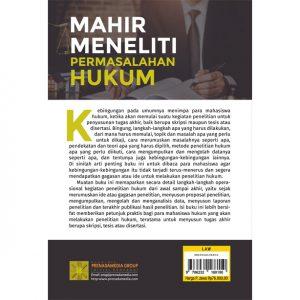 MAHIR MENELITI PERMASALAHAN HUKUM